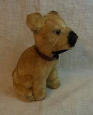 Vintage German Stuffed Animal Dog Sitting #AX2