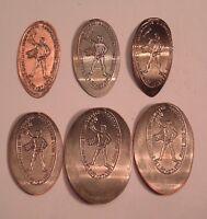 1991  ROCHESTER NUMISMATIC ASSOCIATION  ELONGATED 1C-$1.00 6 COIN SET