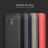For Motorola Moto E4 Plus Luxury Slim TPU Leather Case Soft Silicone Cover Skin