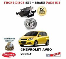FOR CHEVROLET AVEO 1.2 1.4 5/2008-> FRONT BRAKE DISCS + DISC PADS SET