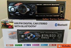 Kubota Tractor Radio AM FM USB AUX Bluetooth RTV RTX 1100 LX Stereo Harness Plug