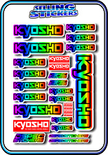 KYOSHO MODEL RC CAR DRONE BOAT BUGGY MINI Z STICKERS DECALS ROBOT R/C RAINBOW B
