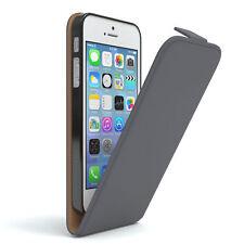 Tasche für Apple iPhone SE / 5S / 5 Flip Case Schutz Hülle Handy Cover Anthrazit