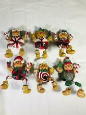 Christmas Holiday Pastry Shelf Sitting Figures 6 Free Shipping