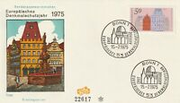GERMANY 15 JULY 1975 EUROPEAN BUILDINGS FIRST DAY COVER BONN SHS