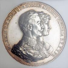 "1889, Germany, Prussia, Wilhelm II. Silver ""Golden Wedding"" Medal. NGC MS-61!"