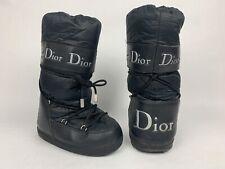 Christian Dior Women's Moon Boots Snow Winter Boots Shoes Monogram Black 35-37