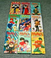 Ranma 1/2 Misc Lot Of 9 VHS English Dubbed Viz Video 4 Tapes Are NEW Manga Anime