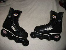 BAUER 3 OFF ICE HOCKEY ROLLER HOCKEY SKATES BLADES SZ 6 D GREAT SHAPE OLD SCHOOL