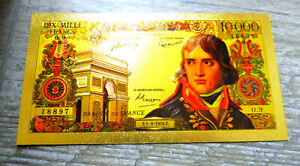 "★★ BILLET POLYMER  "" OR "" AVEC COULEURS DU 10000 FRANCS BONAPARTE ★★ REF3"