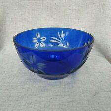 Vintage Glass Blue Bowl Vintage Kitchen Cooking Equipment Vintage Plate