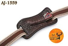 """Hand Made Pure Cow Engrave Leather Sheath For 4"""" Folding Knife - Aj 1559"""
