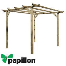 Pergola pergolato 4 pali mt 3x3 h 2,4 legno impregnato copertura gazebo