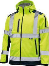 Vizwell Warnschutz Softshelljacke leuchtgelb wasserdicht Arbeitsjacke Sicherheit