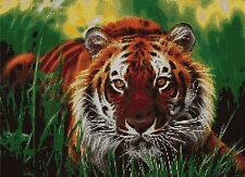 TIGER IN THE GRASS - CROSS STITCH CHART