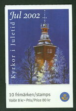 SWEDEN (H545) Scott 2450e, 2002 Christmas Churches booklet, VF