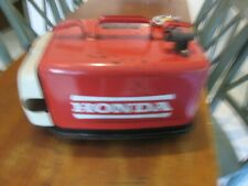 VINTAGE HONDA 3.4 GALLON RED METAL OUTBOARD MOTOR GAS FUEL TANK BOAT TANK SEE