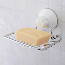 Home Strong Suction Bathroom Shower Accessory Soap Dish Holder Cup Tray Newly