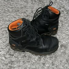 """Timberland Mens Boondock 6"""" Leather Composite toe Lace Up Safety, Black, Size 10"""