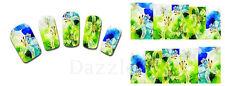 Nail Art de transferencia Pegatinas Calcomanías de agua etiqueta engomada arte Decorativo Flores (DX1407)