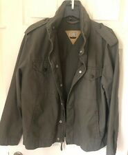 Levis Men's Taupe Utility Jacket With Hood Zip Snap Button Size M