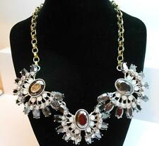 Betsey Johnson Whiteout Three Piece Frontal Crystal Necklace MSRP $68