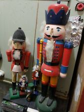 19 inch tall Toy Nutcracker with long white hair and beard lot