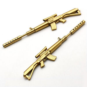 Gold Rifle Shape Black Ink Ball point Pen Stationery Office Ball Point Novelty /