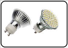 5x lampada Gu10 60 LED smd 3528 Faretto Lampadina 5W 3000-3500 K