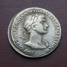 Silver Coin:- RARE Ancient:-Roman Empire Drachma Greek Coin #Old Coin #002