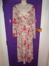 Vintage Laura Ashley Dress UK 14 Floral Print Lace Collar Tea Edwardian Sailor