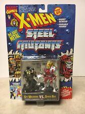 """X-MEN STEEL MUTANTS """"SPY WOLVERINE VS OMEGA RED"""" 2.75""""IN DIE CAST FIGURES 1994"""