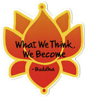 What We Think, We Become - Buddha - Small Bumper Sticker / Decal