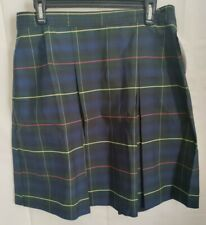 Dennis Girls H20.5, 20 Plus, Bradley Plaid Stitched Down Kick Pleat Skirt School