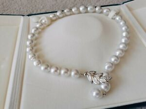 Australia south sea pearl necklace silver clasp luxury gift baroque 12-14mm