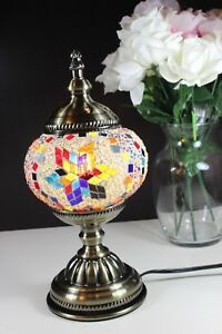 """Turkish Handmade Mosaic Table Desk Bedside Night Accent Lamp18"""" Inches"""