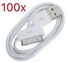 100x 30 Pin USB Sync Data Cable Charger Fits Apple iPhone 4 4S 3GS 3G
