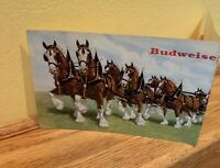 Rare Vintage 1960s Advertising Budweiser King Of Beers Post Card Clydesdale