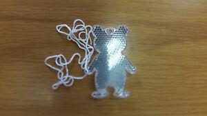 Reflektorbär Katzenauge 7 cm / Weiß
