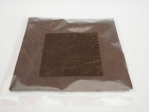 leatherette brown squares 6 inch x 6 inch  pack of 10