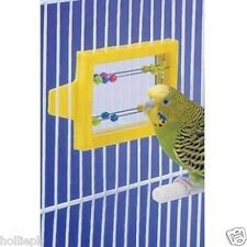 Miroir & Perles perruche Canary Bird boulier jouet Crochets pour cage Moving Perles