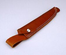 Heavy Duty Leather Scabbard for Survival Knife w/ Leg Lanyard attachment