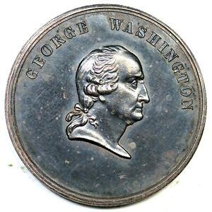 (C1861) GW-442 B-91A George Washington Silver Medal