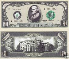 Two Thomas Jefferson 3rd US President Novelty Bills # P03
