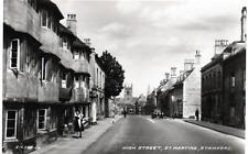High Street St Martins Stamford unused RP old postcard 1933 by Valentines