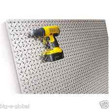 Commercial Grade Metal Pegboard - 4 x 4 Panel - Diamond Plate Fit Standard Hooks