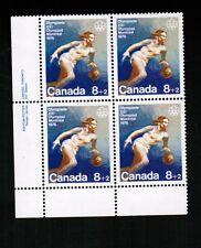 Canada 1976 8c semi Olympic Basketball Mnh bl/4 #B10 Bk 01