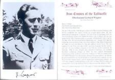 SPGL18 German Luftwaffe photo signed Night Fighter pilot WAGNER