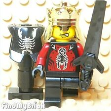 C410 Lego Castle Shadow Knight King Minifigure with Greatsword & Armour Stand