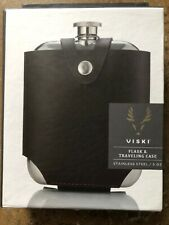 Admiral Stainless SteelFlask and Traveling Case by Viski FREE2DAYSHIP TAXFREE